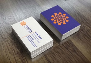 business card design circle media