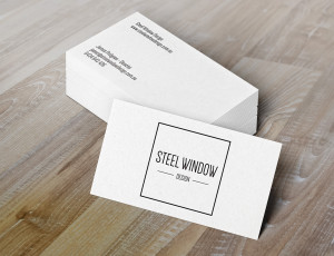 business card & branding design steel windows melbourne