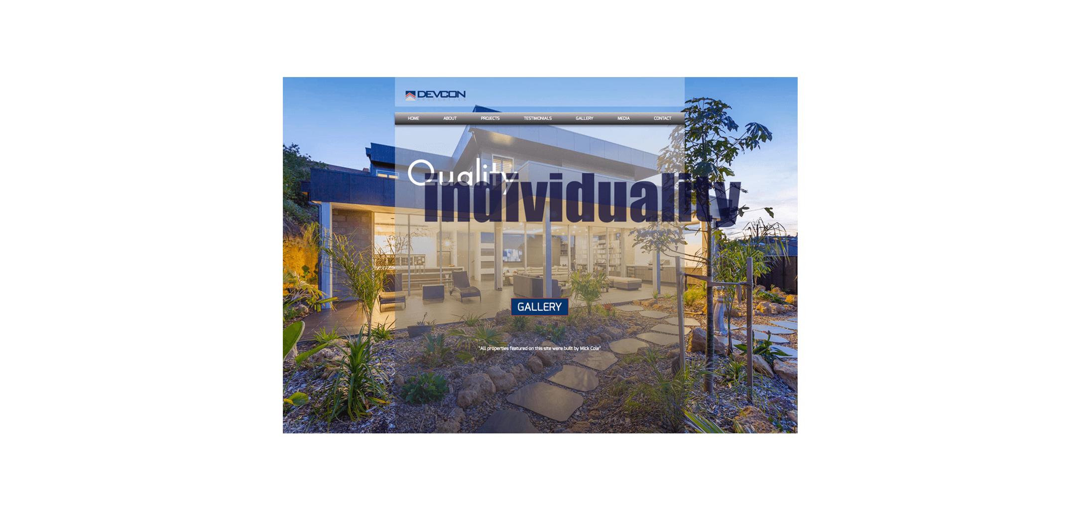 Devcon Properties - Website designed by circle media geelong