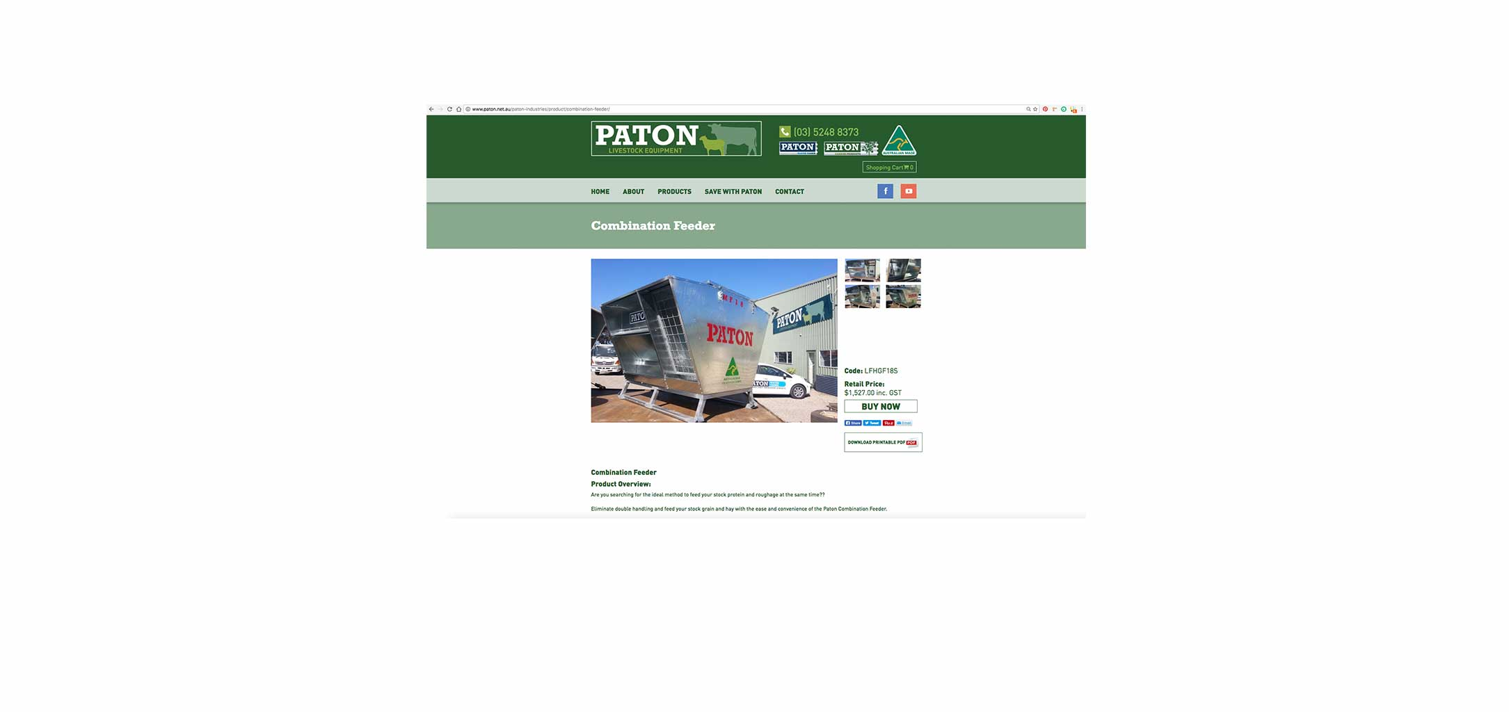 Paton - web design by Circle Media Geelong