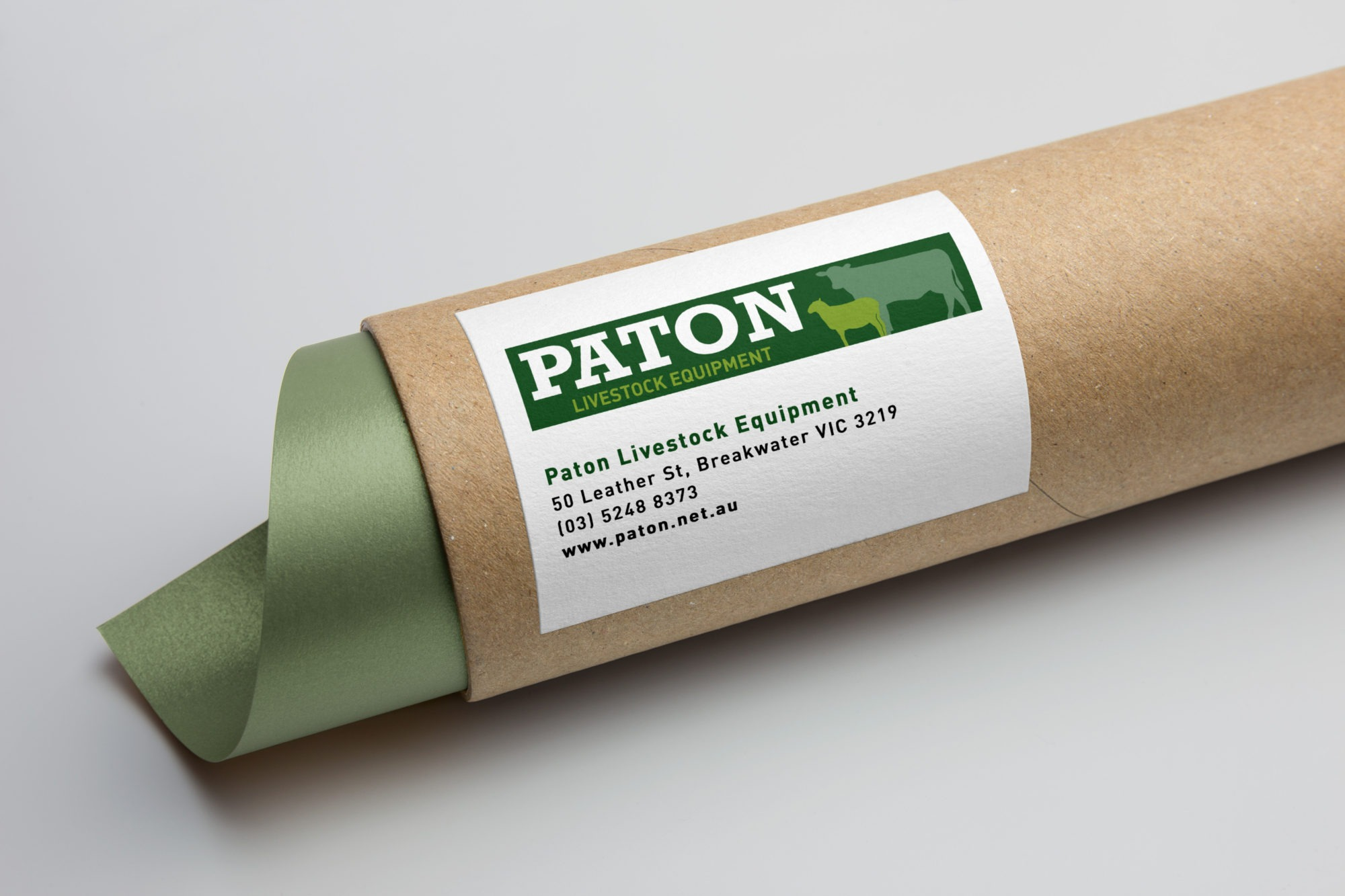 Paton livestock equipment logo tube