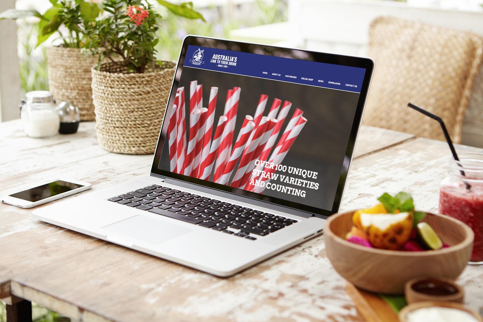 Austraw website design home page