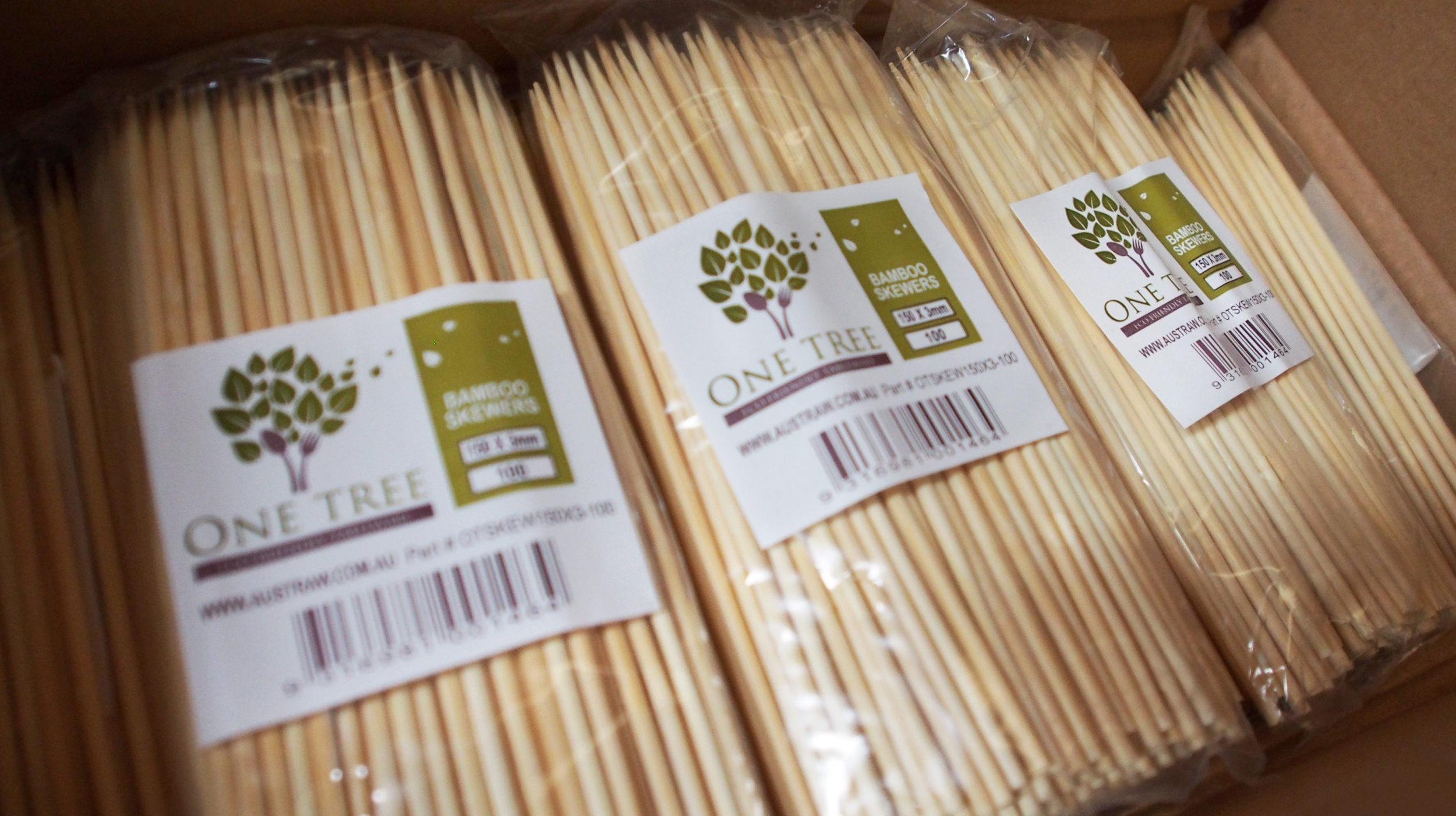 One Tree bamboo skewers packaging