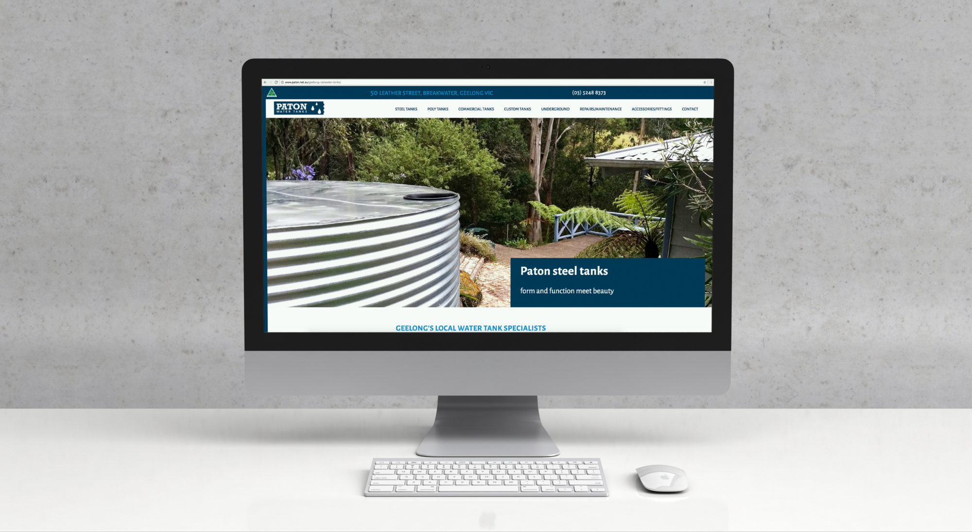Paton water tanks website home page