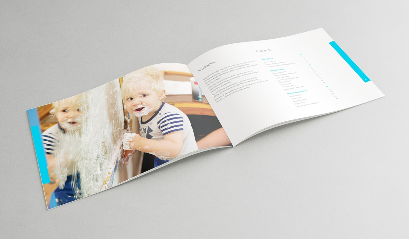 kids plus-brand style guide-contents