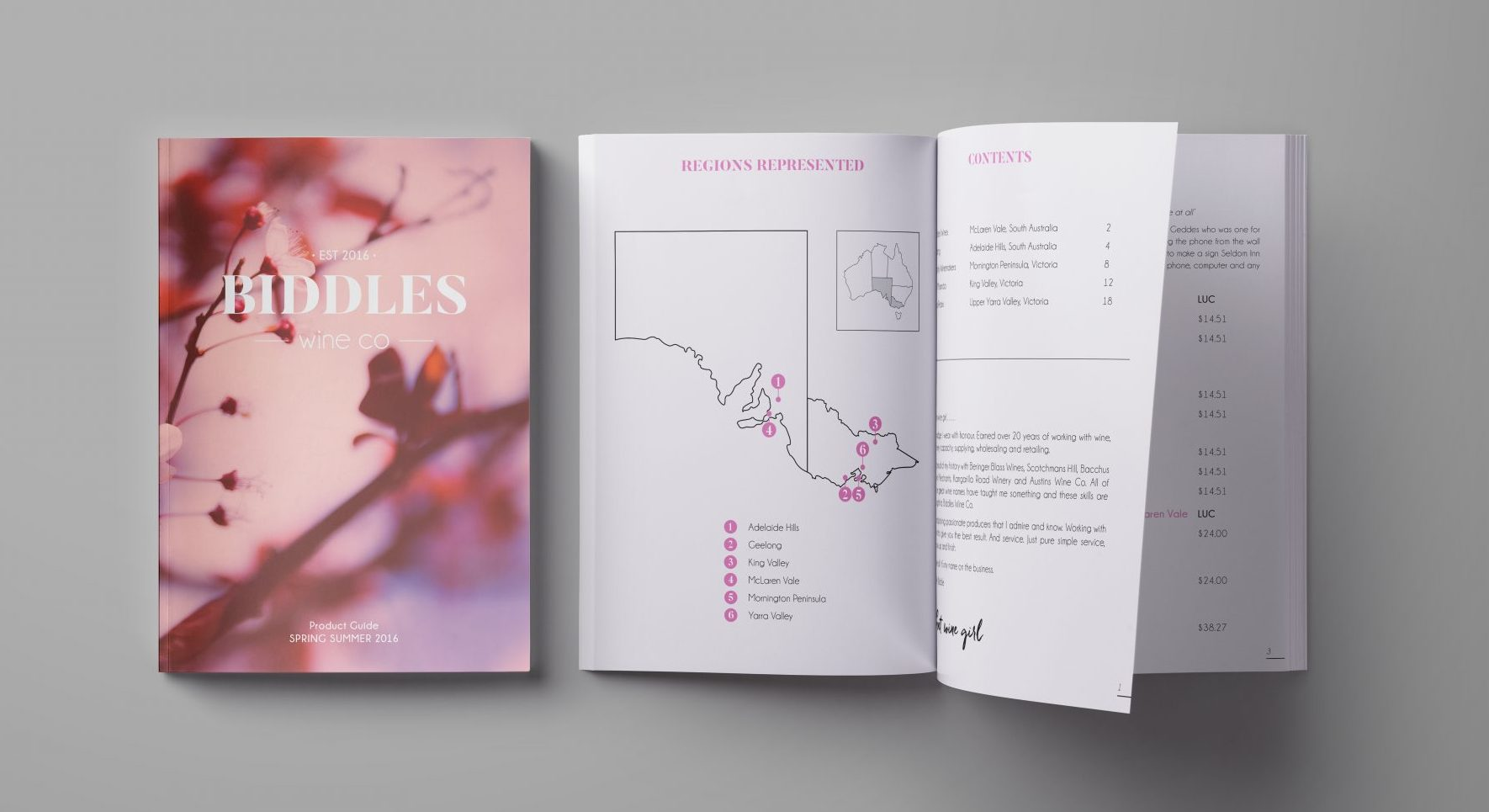 Circle Media_biddles wine co portfolio spring summer