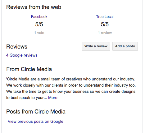 Circle Media Google Reviews 2